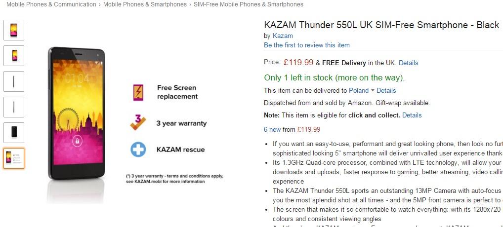 Untitled Allview E4 LITE este la origini un KAZAM Thunder 550L