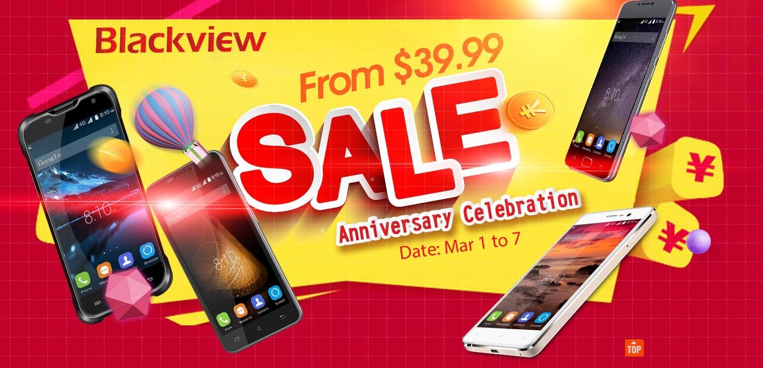 df Promotie pentru telefoanele Blackview, preturi incepand de la 39$