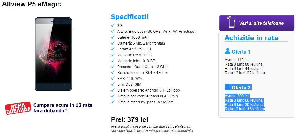 erer Allview P5 eMagic, telefon destul de ieftin la Digi Mobil 3G, cateva pareri!