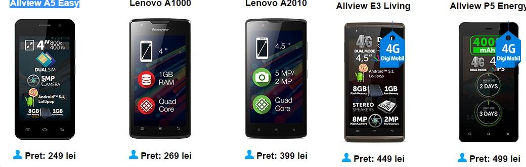 fff Ce telefoane merita sa cumperi de la Digi Mobil? Iata cateva pareri in functie de buget