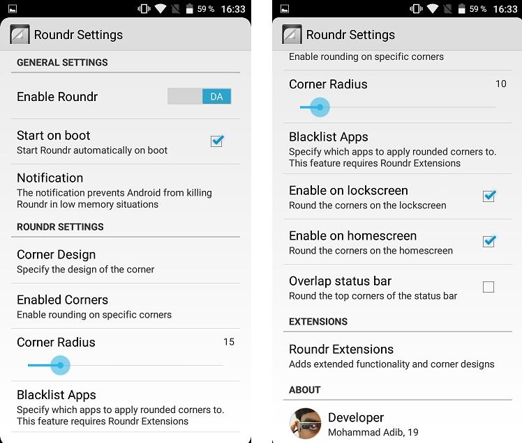 tt Roundr, aplicatie Android ce rotunjeste elegant colturile ecranului