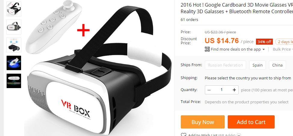 777 Ochelarii Allview Visual VR sunt in China si de 5 ori mai ieftini!