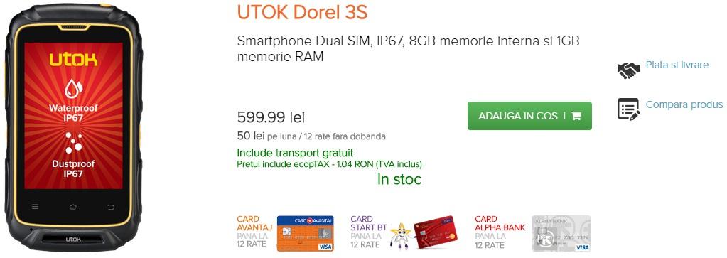 rrr Noile telefoane rugged, UTOK Dorel 3S si UTOK Explorer 3S