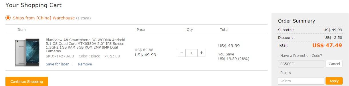 rrr De astazi vom vorbi despre un nou magazin, tomtop.com si iata prima oferta, Blackview A8!