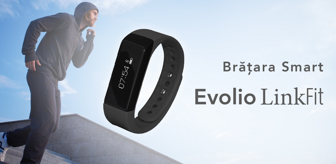 tt Produs nou - bratara fitness Smart Evolio LinkFit cu bluetooth