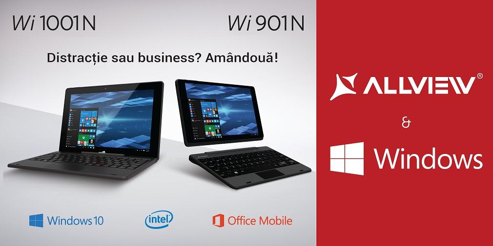 Allview Wi901 si Wi1001 Allview Wi901 si Wi1001, tablete noi cu Windows 10 in oferta locala