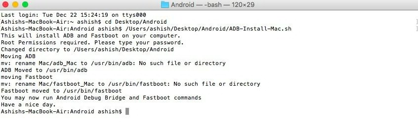 mac3 Cum instalam usor si rapid ADB si Fastboot pe Windows, Mac OS X si Linux