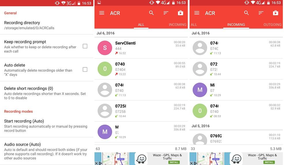 8 Aplicatie pentru inregistrarea automata a convorbirilor pe telefon