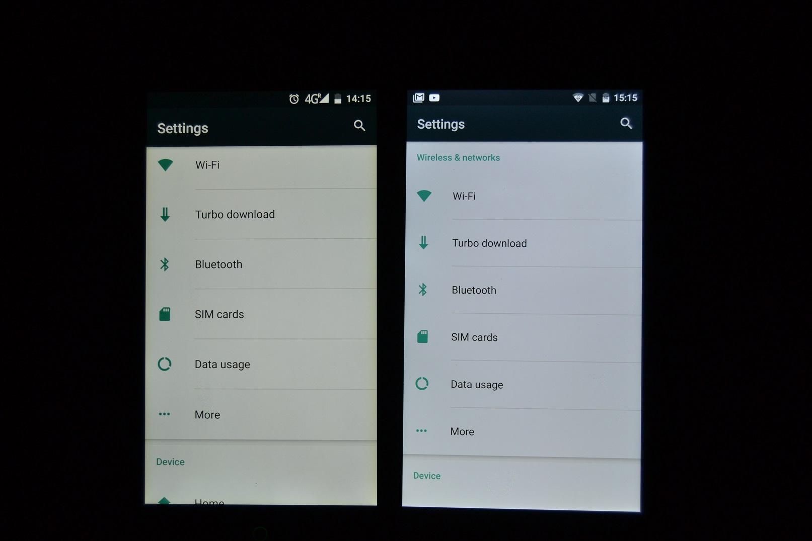 DSC_0478 REVIEW display UMi Touch si comparat cu UMi Super, tot partea de display