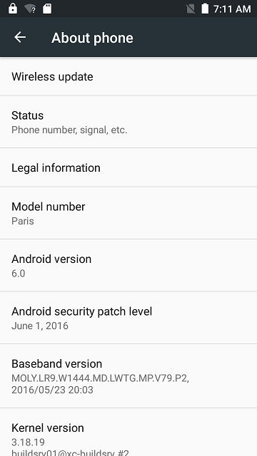 Update firmware Ulefone Paris la Android 6.0 Marshmallow
