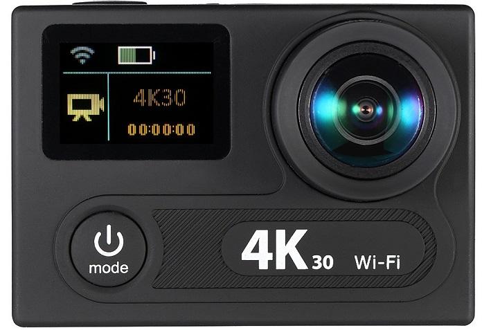 d3703b-1-ty Camera video sport cu doua ecrane si cu filmare 4K la 30 fps