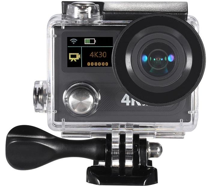 d3703b-1hfgdd Camera video sport cu doua ecrane si cu filmare 4K la 30 fps
