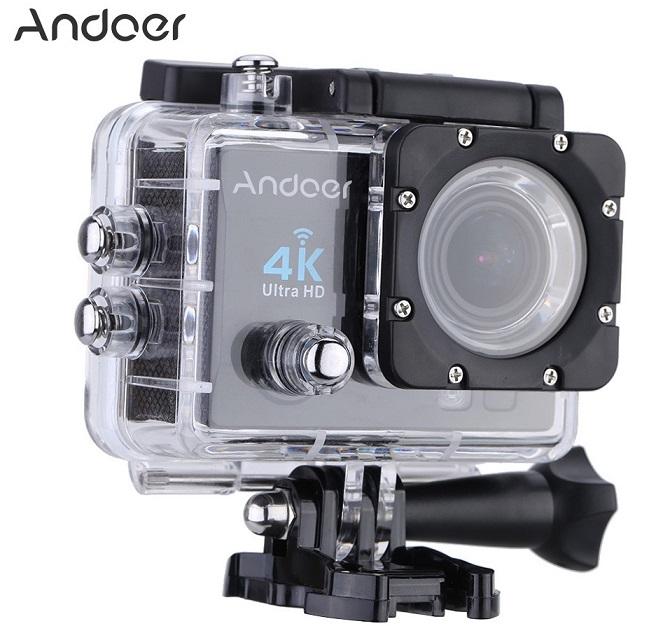 """camfere Andoer, camera de actiune ieftina cu display de 2"""" si cu filmare 4K la 25 fps"""