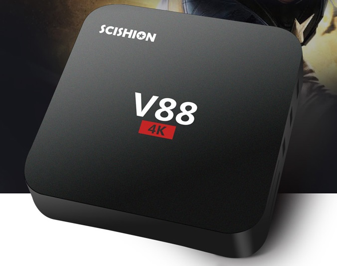 ddedededed SCISHION V88 TV Box cu redare 4K si Android, are un pret chiar mic