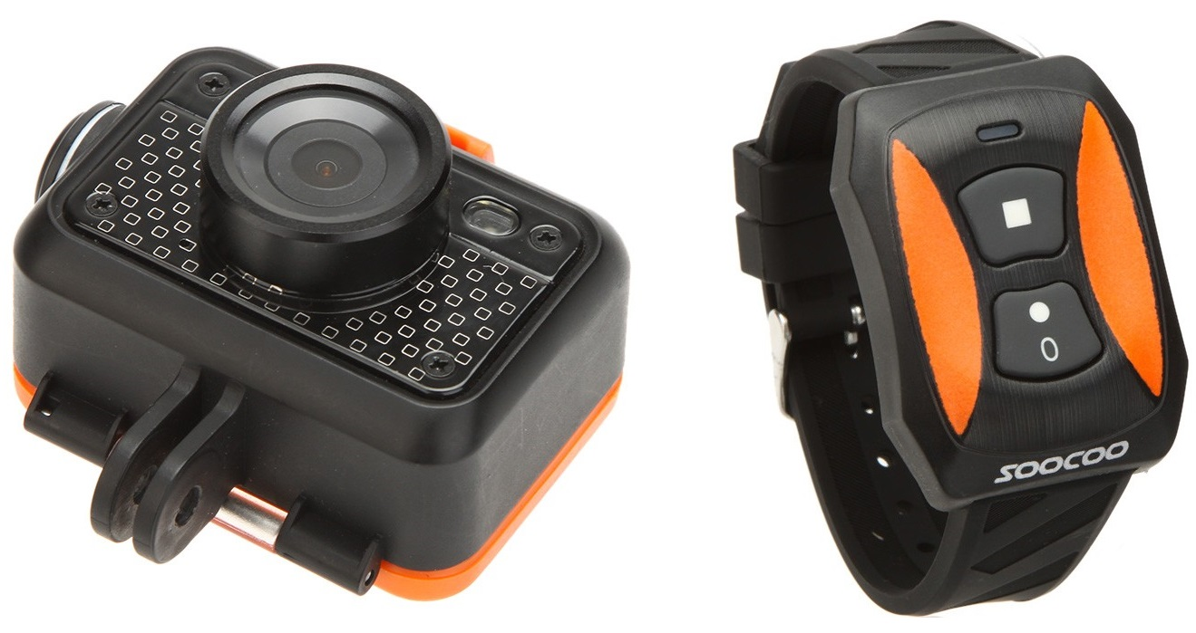 erreerrr SOOCOO S60, camera rugged subacvatica dotata cu buton de SOS si telecomanda