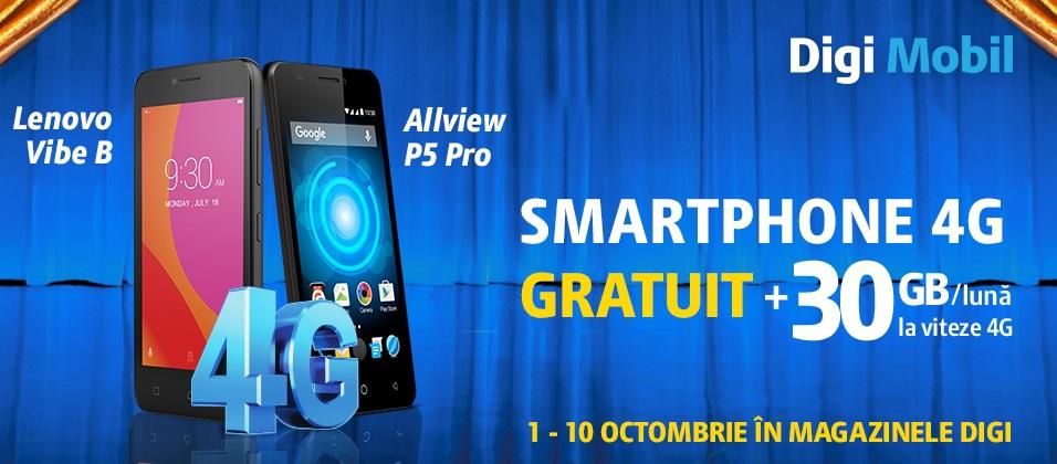 34digi oferta buna digimobil 4g, primesti un telefon gratuit si 30 gb net