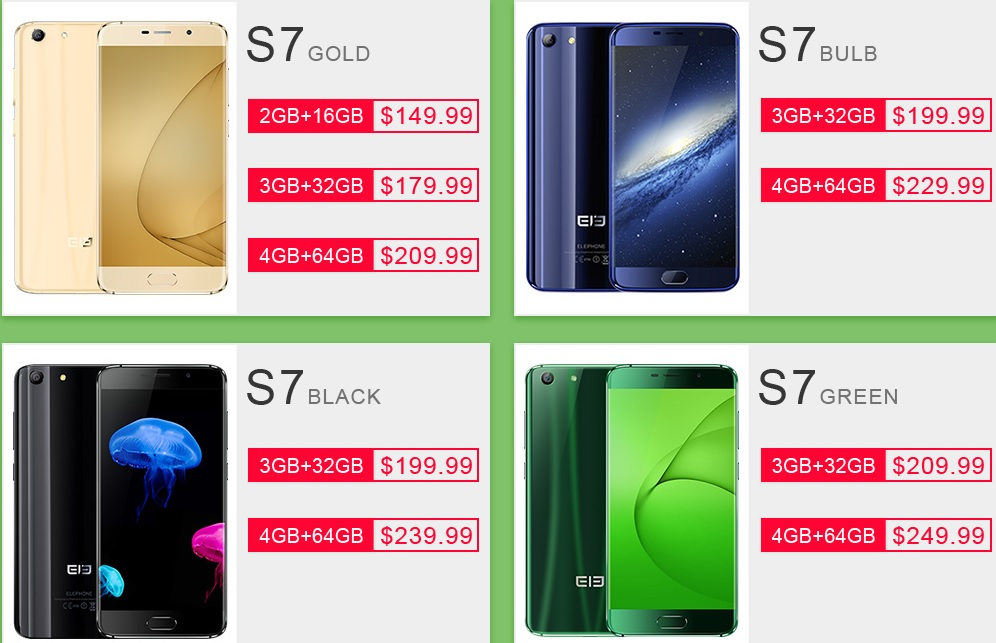er Elephone S7 si S7 Mini par a fi telefoanele momentului, iata alte oferte!