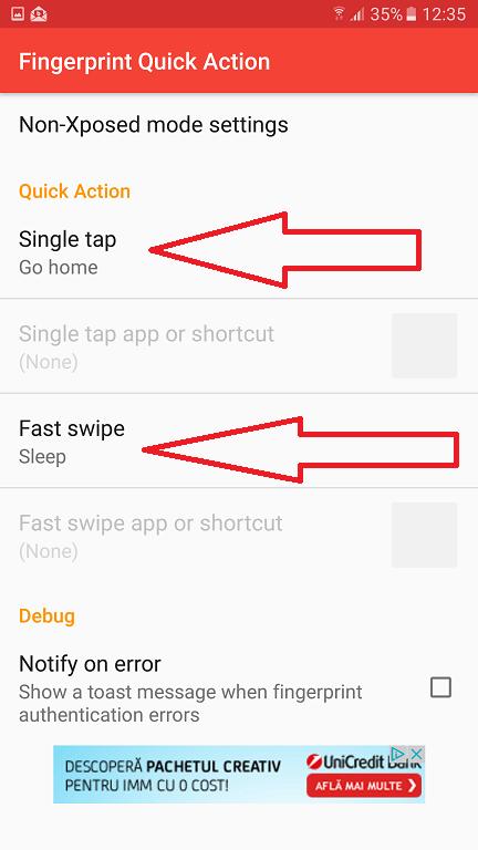 Inca o aplicatie utila pentru senzorul de amprente de pe telefon