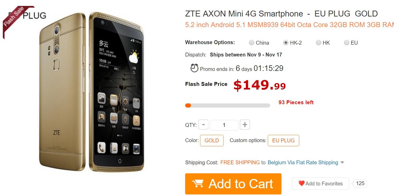 fs ZTE AXON Mini un super telefon dar mai ales un super pret acum!