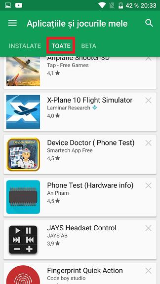 Cum vezi aplicatiile din Google Play pe care le-ai instalat de la inceput!