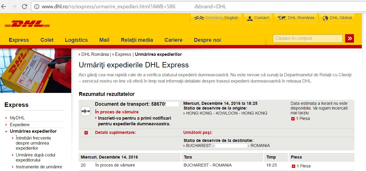 dhl-3 Tutorial: Transport rapid DHL din China, taxe de platit si acte necesare!