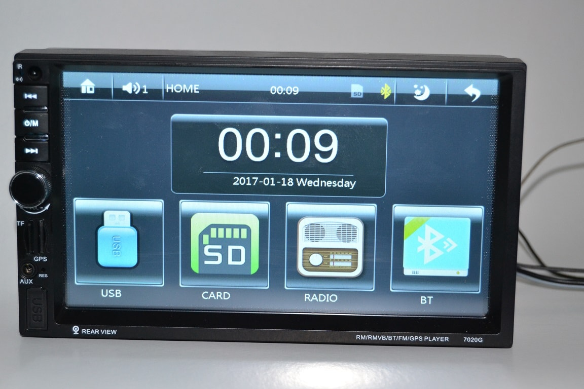 Review navigatie auto 2din ieftina 7021g de pe gearbest, fara Android