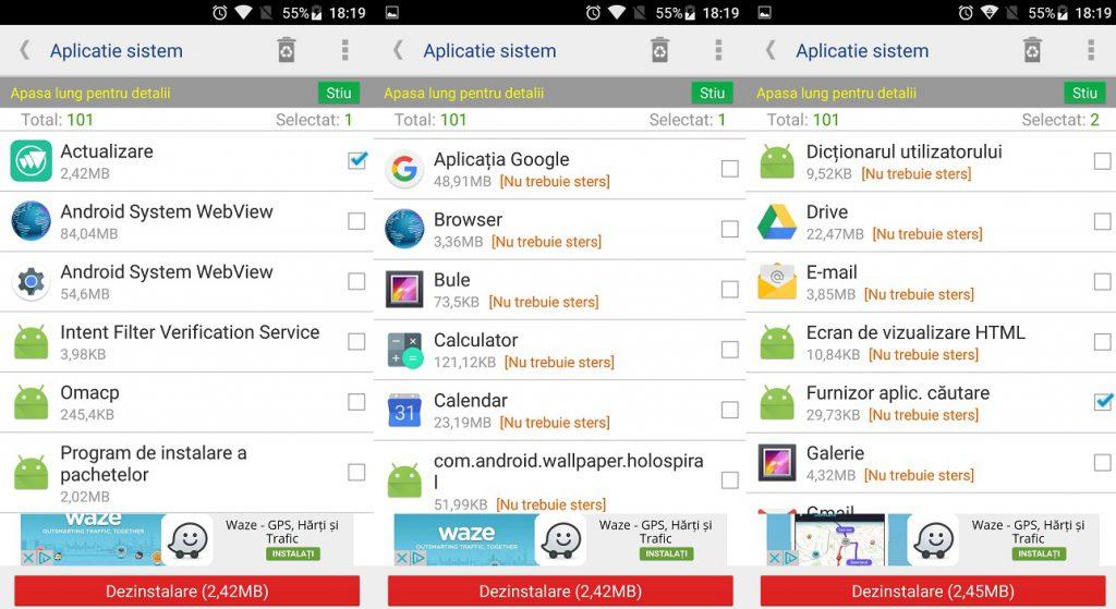 Aplicatii simple cu care poti sterge fisierele de sistem Android