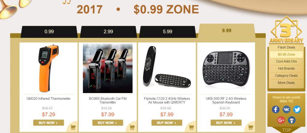 Reducerile finale ale magazinului gearbest.com, aniversarea de 3 ani