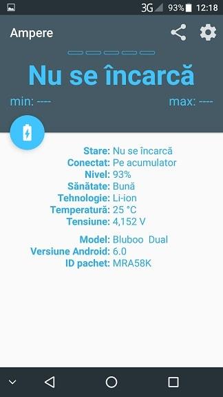 Aplicatia Ampere full, despre incarcarea telefoanelor cu Android