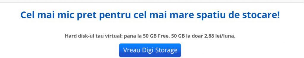 Digi Storage, cloud ieftin, 50 GB pentru 3 lei si 100 GB pentru 6 lei