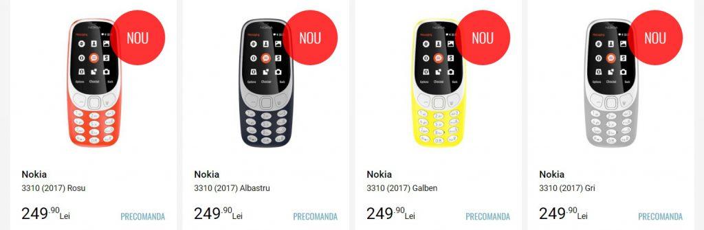 Nokia 3310 2017 ajunge in Romania la quickmobile, iata pret