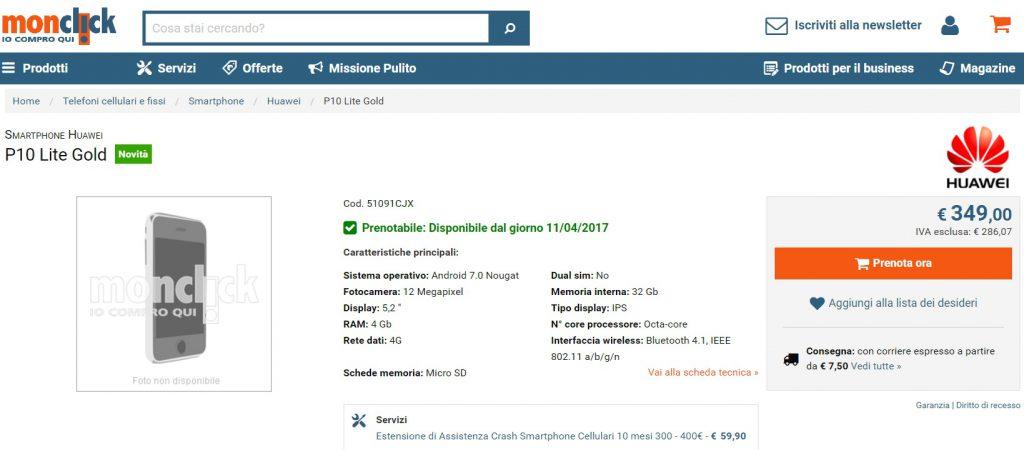 Huawei P10 Lite in Romania in aprilie, avem si pret posibil