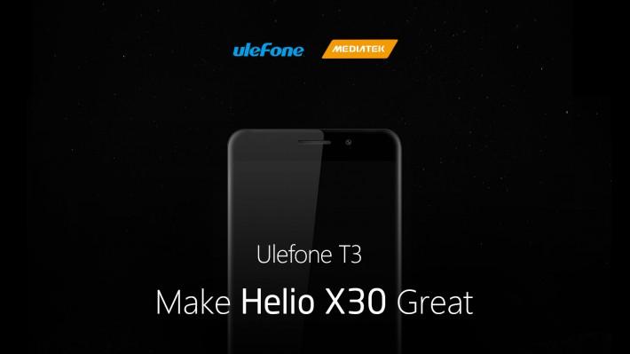 Ulefone T3 Ulefone T3 va veni cu 8 GB RAM si MediaTEK Helio X30