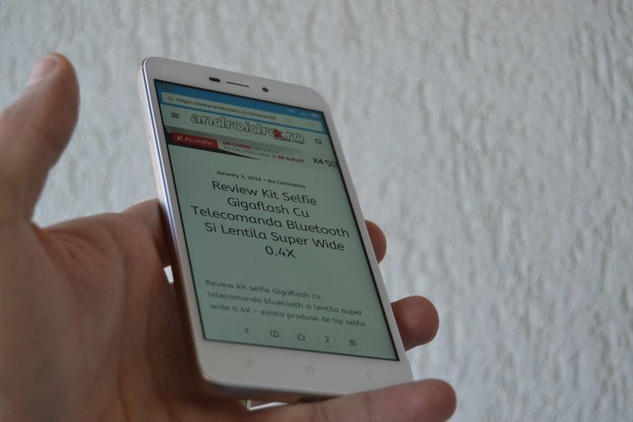 Review Xiaomi Redmi 4A, display foarte bun pentru gama sa de pret