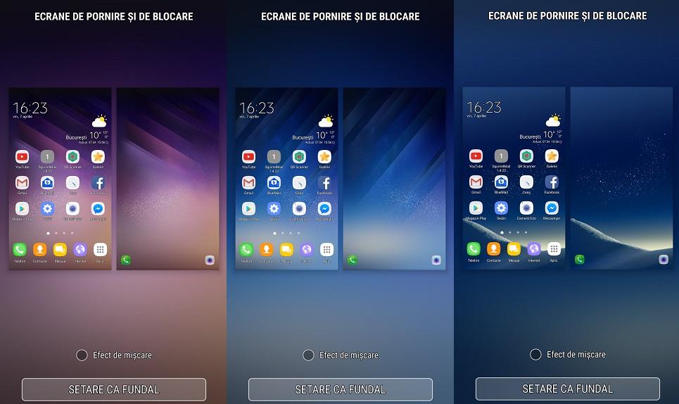 imaginile de fundal de pe Samsung Galaxy S8