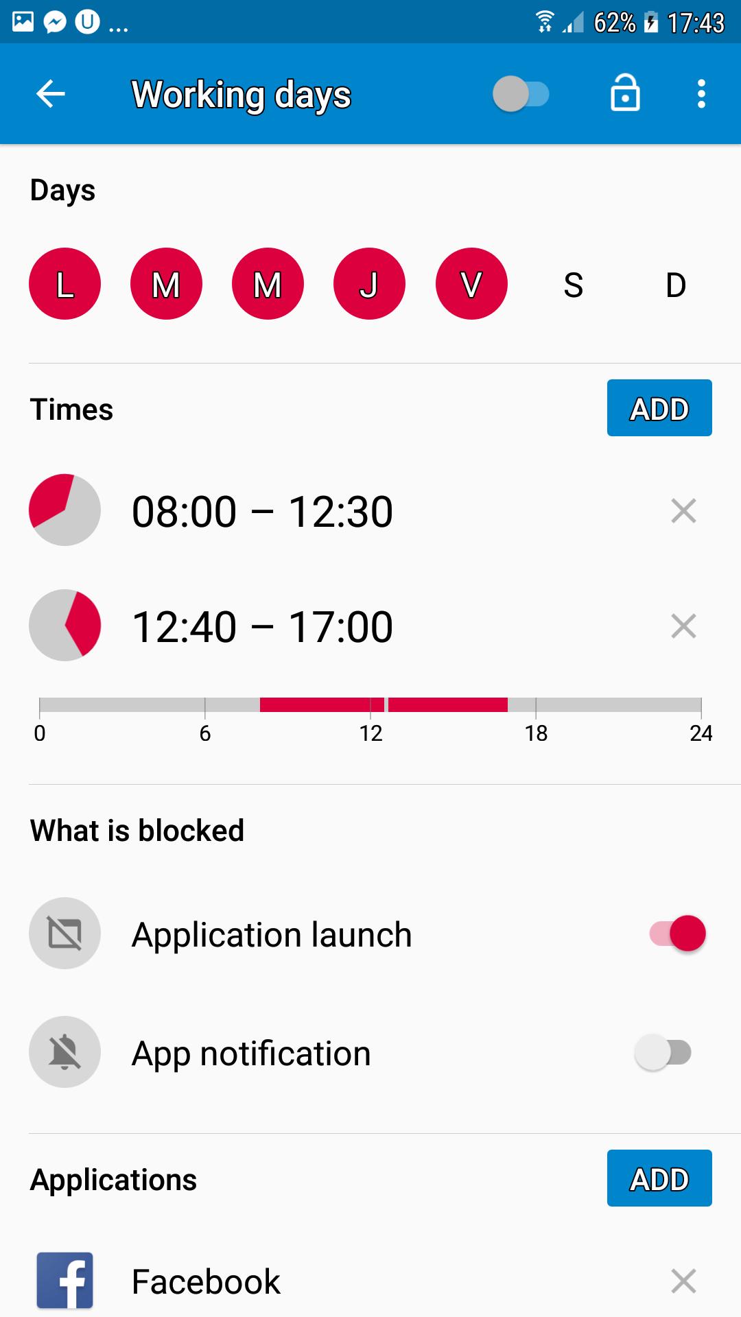 blocheaza accesul pe telefon la o anumita aplicatie!