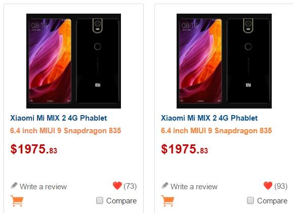 """Xiaomi Mi MIX 2 este online, costa """"numai"""" 1975 USD!"""