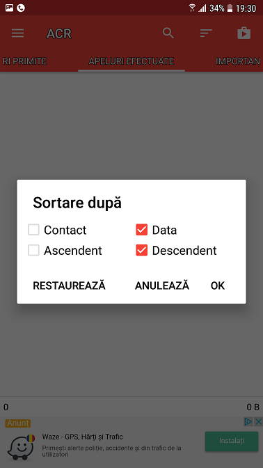tutorial: inregistrarea automata a convorbirilor pe telefon