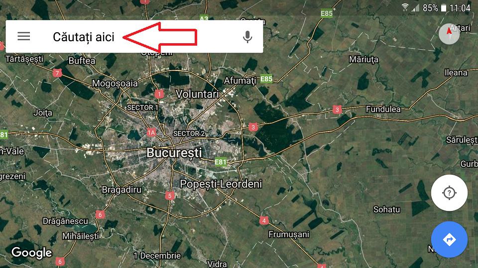 descarcarea hartilor din google maps si navigarea offline