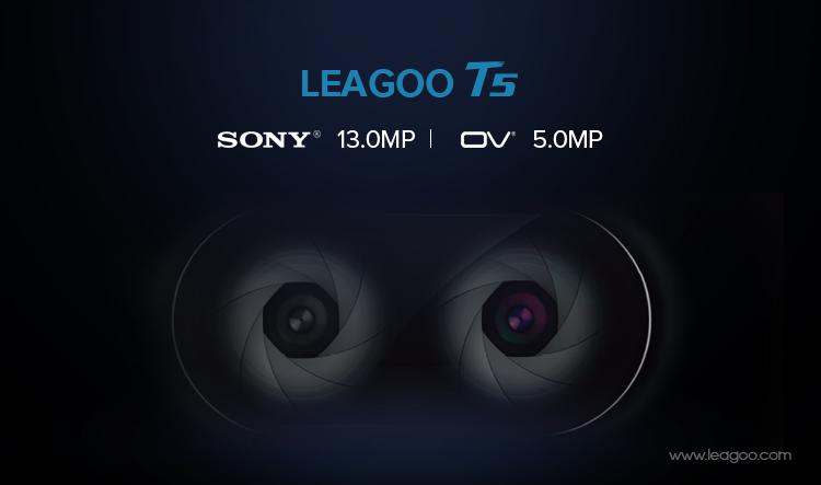 noul leagoo t5, dual camera cu senzori buni, 13 mp sony si 5mp ov
