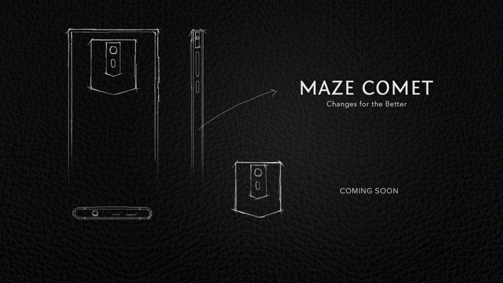 """maze comet, telefon anuntat oficial, display 18:9 si 5.7"""""""