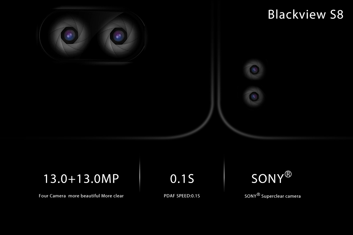 blackview s8 anuntat oficial, 4 camere foto si display 18:9