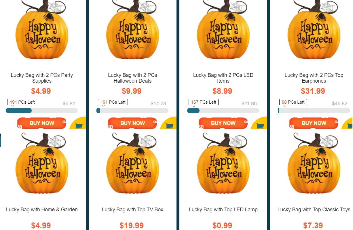 halloween vine cu surprize in cadrul magazinului gearbest
