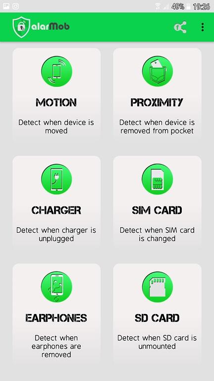 aplicatie alarma antifurt pentru telefon cu android