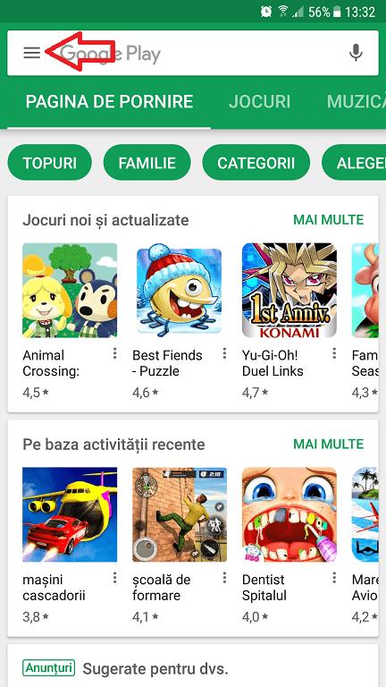control parental pentru aplicatiile ce vin din google play (pegi)