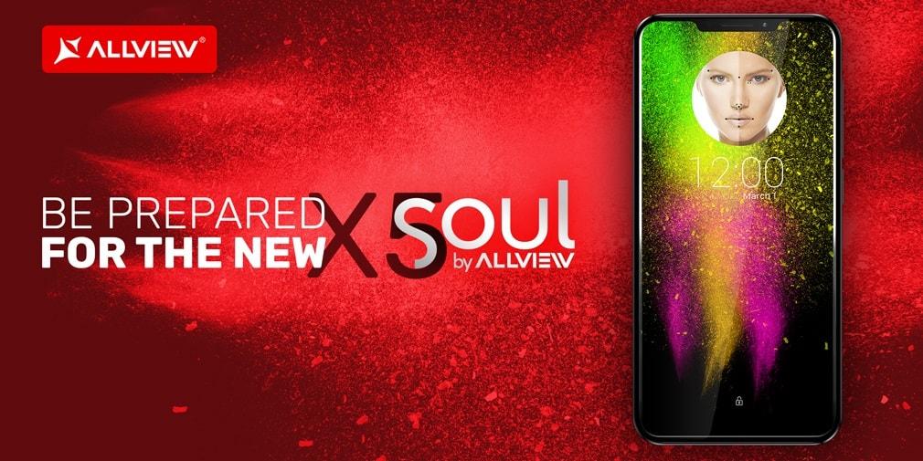 """allview x5 soul devine oficial, telefon cu """"notch""""! allview x5 soul pro"""