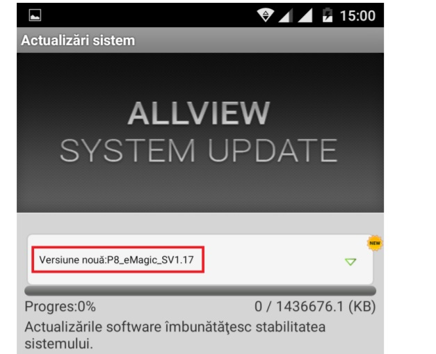 allview p8 emagic primeste un update major de firmware