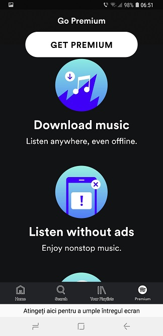 aplicatia spotify romania