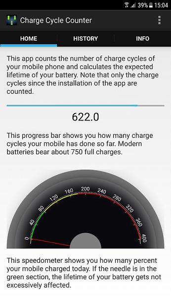 afla de cate ori a fost incarcata bateria telefonului