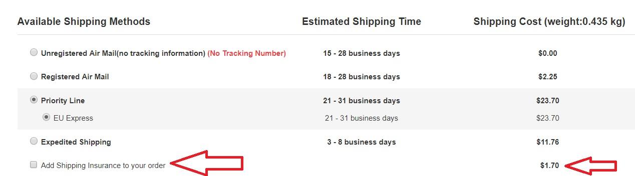 cum faci rost de tracking number cand cumperi din china?